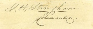 Autograph, Admiral Silas H. Stringham, U.S. Navy (Image1)