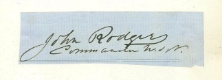 Autograph, Admiral John Rodgers, U.S. Navy (Image1)