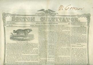 Group Lot Of 5 Boston Cultivator Newspapers, 1848-1849