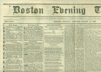 Boston Evening Transcript, August 25, 1863 (Image1)