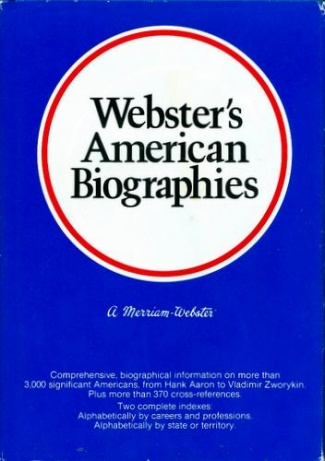 Webster's American Biographies (Image1)