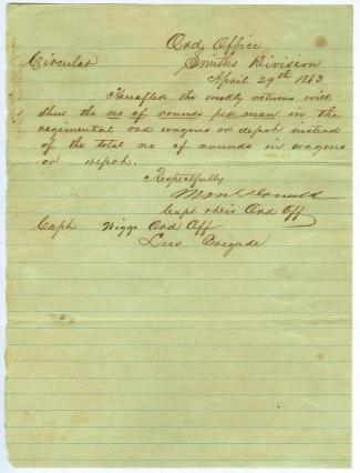 1863 Vicksburg Campaign Circular (Image1)