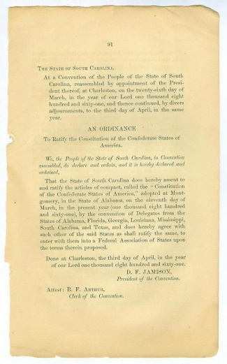 An Ordnance To Ratify The Constitution of the C.S.A. (Image1)