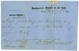 Special Orders Issued By General Dabney H. Maury At Mobile, Ala.