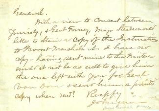 Communication From Confederate Colonel James O. Fuqua (Image1)