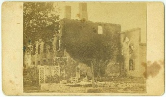 Cdv Ruins Of Chambersburg, Pennsylvania In 1864