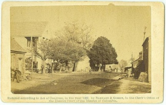 CDV Principal Street With Court House, Yorktown, Va. (Image1)