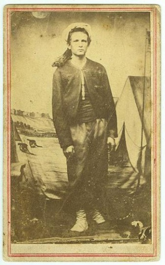 CDV Union Zouave With Patriotic Background (Image1)