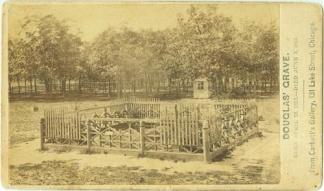 CDV Grave of Senator Stephen A. Douglas (Image1)