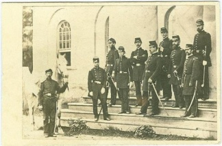 CDV General Irvin McDowell and Staff (Image1)
