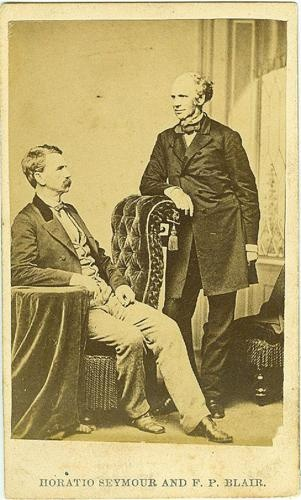 CDV General Francis P. Blair & Governor Horatio Seymour (Image1)