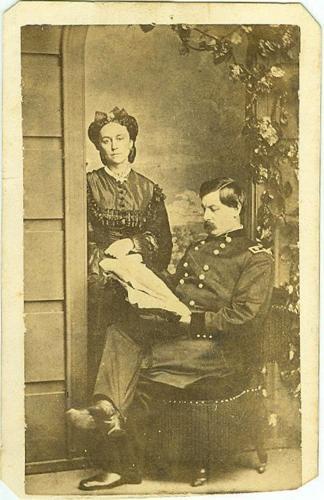 CDV General George B. McClellan & Wife (Image1)