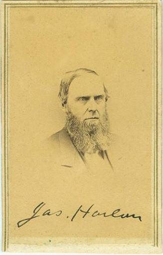 cdv James Harlan (Image1)