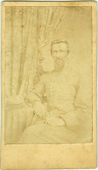 CDV Confederate Officer (Image1)