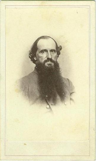 CDV J.A. Benton, Confederate Officer (Image1)