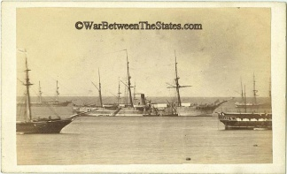 CDV, Civil War Era View of Several Ships (Image1)