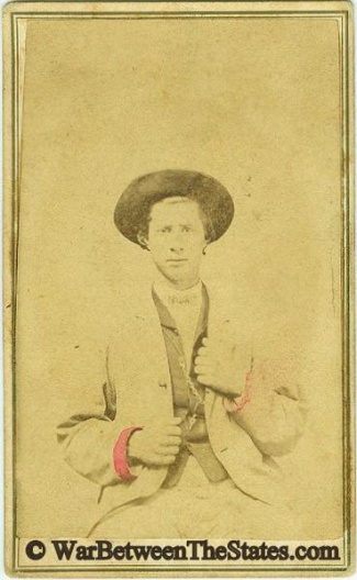 Cdv, Confederate Soldier Albert Jones