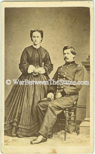 Cdv General George B. Mcclellan & Wife