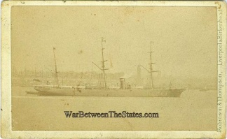 CDV, Ship Photographed in Liverpool, England (Image1)