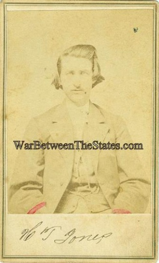CDV, Confederate Soldier, H.T. Jones, Photographed in Tennessee (Image1)