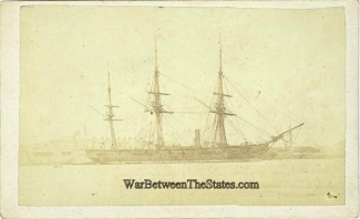 Cdv, Ship Photographed In Portsea, England