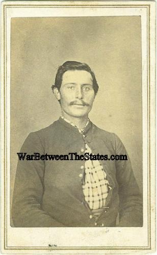CDV Identified Union Soldier Photographed in Indiana (Image1)