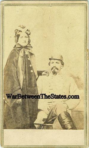 CDV General John Hunt Morgan & Wife (Image1)