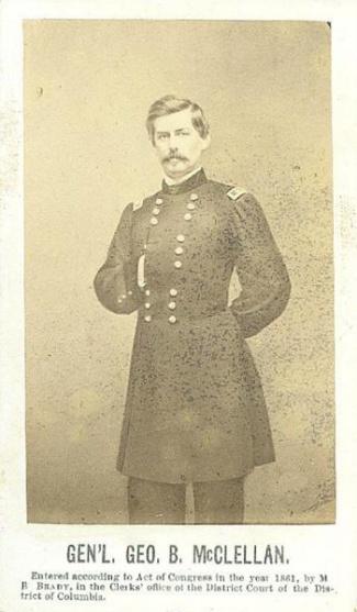CDV, General George B. McClellan (Image1)