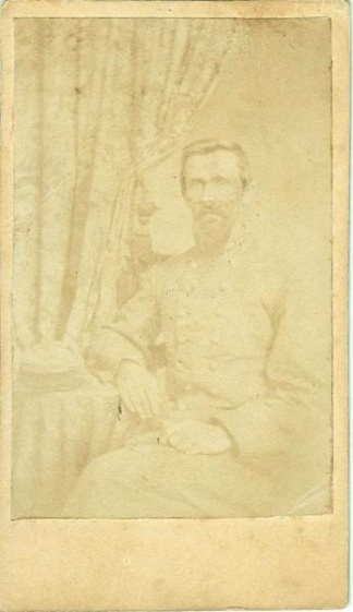 Cdv, Confederate Civil War Officer