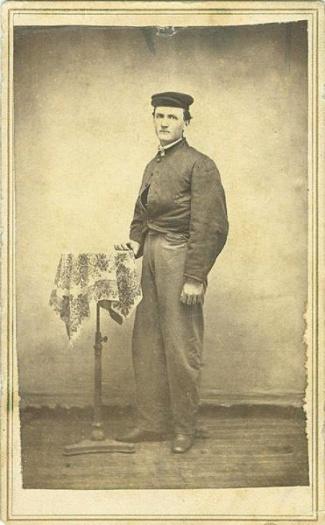 CDV, Confederate Civil War Soldier (Image1)