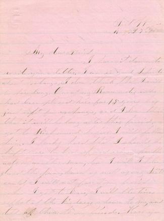 Confederate Prisoner of War Letter From Fort Warren, Boston (Image1)