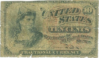 1863 United States 10 Cents Note