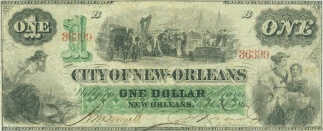 1862 City of New Orleans $1 Note (Image1)
