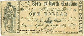 1861 State of North Carolina $1 Note (Image1)