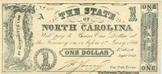 1862 State of North Carolina $1 Note (Image1)