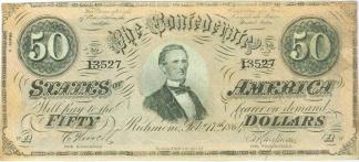 1864 Confederate $50 Note (Image1)