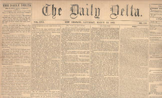 The Daily Delta, New Orleans, March 22, 1862 (Image1)