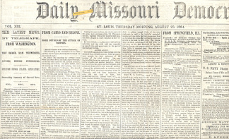 Daily Missouri Democrat, St. Louis, August 25, 1864