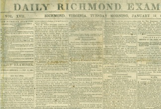 Daily Richmond Examiner, January 12, 1864 (Image1)