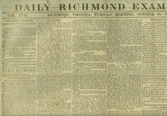 Daily Richmond Examiner, October 20, 1863