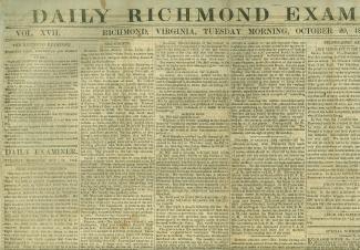 Daily Richmond Examiner, October 20, 1863 (Image1)