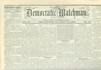 The Democratic Watchman, July 14, 1876 (Image1)