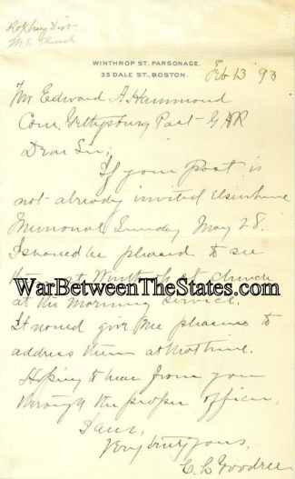 Gettysburg Post 191 is Invited to Memorial Service (Image1)