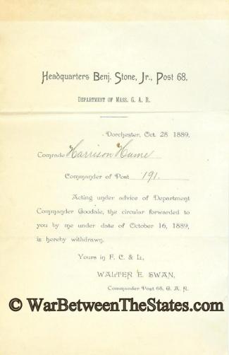 Imprint, Benjamin Stone, Jr. Post 68 (Image1)