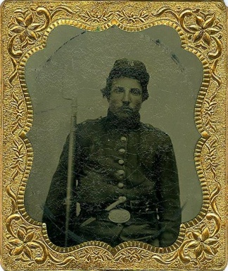 Tintype, Triple Armed New York Infantryman (Image1)