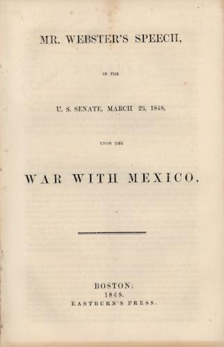 Speech of Senator Daniel Webster (Image1)
