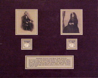 Abraham Lincoln & Mary Todd Lincoln Hair Display (Image1)