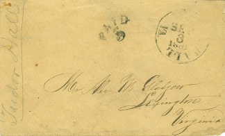 Confederate Cover Addressed To Lexington, Va.