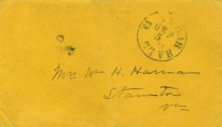 Confederate Cover Postmarked at Tudor Hall, Virginia (Image1)