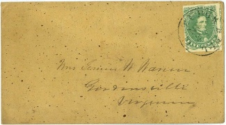 Confederate Cover Addressed To Gordonsville, Va.